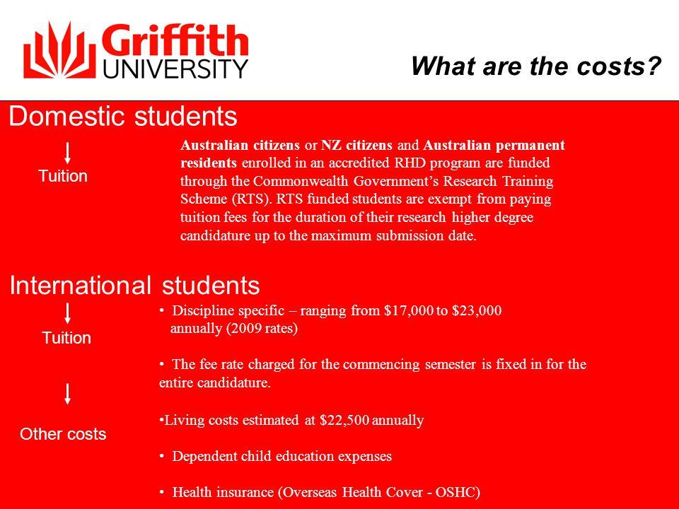 Scholarship TypeStipendDomestic Students International Students Australian Postgraduate Awards (APA) $22,500 p.a.