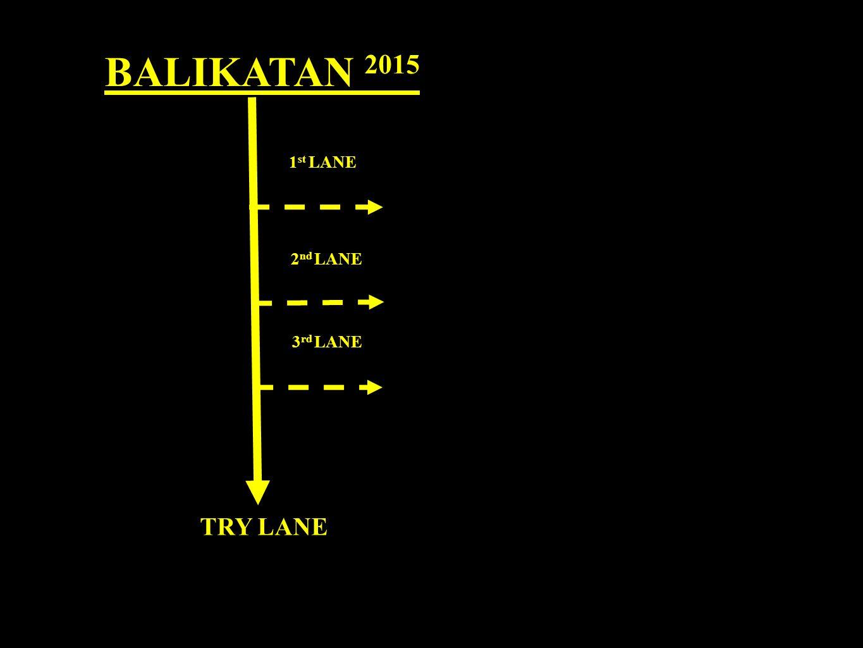 BALIKATAN 2015 1 st LANE 2 nd LANE 3 rd LANE TRY LANE