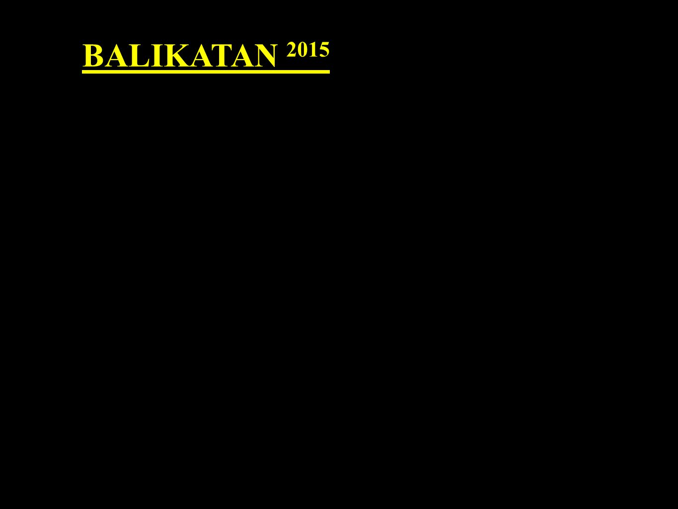 BALIKATAN 2015 TRY LANE Try Lane is the lane of your direct to downline.