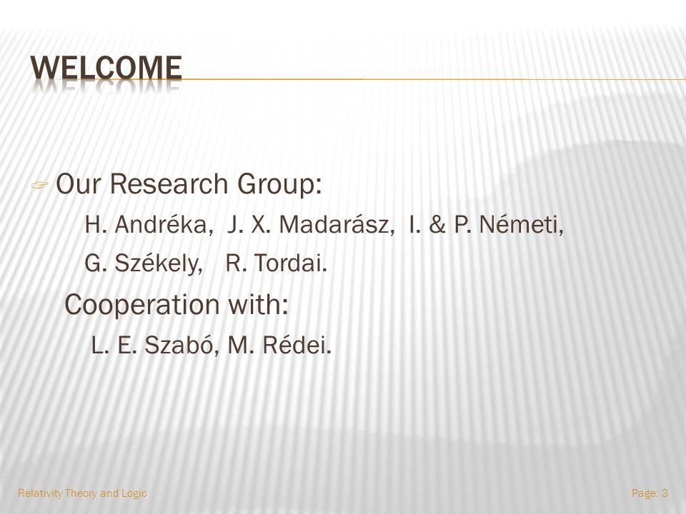  Our Research Group: H.Andréka, J. X. Madarász, I.