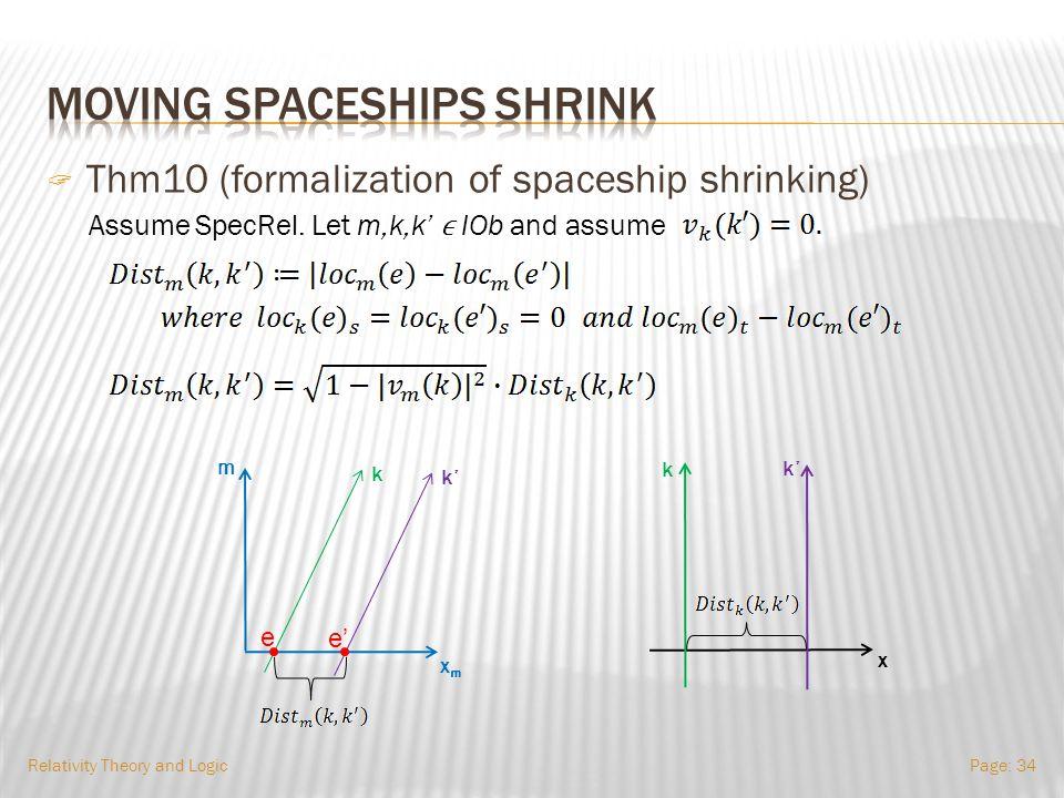 Relativity Theory and LogicPage: 33