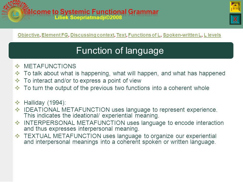 LS Liliek Soepriatmadji©2008 Figure: context of situationcontext of situation
