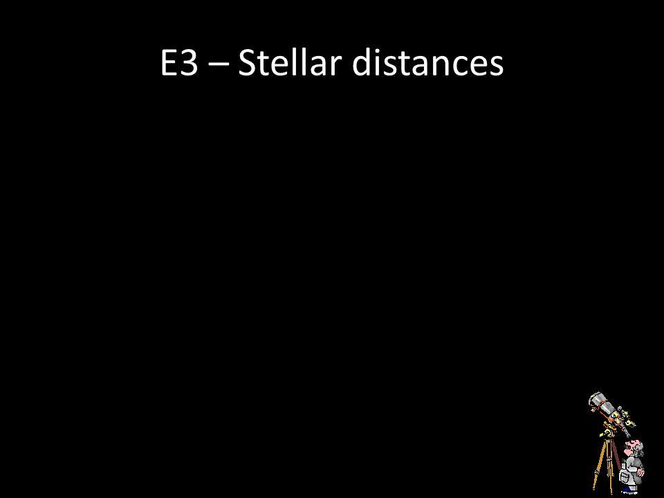 E3 – Stellar distances