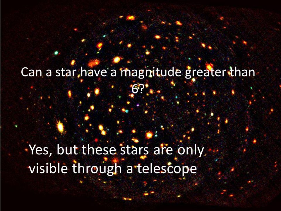 Yes, but these stars are only visible through a telescope