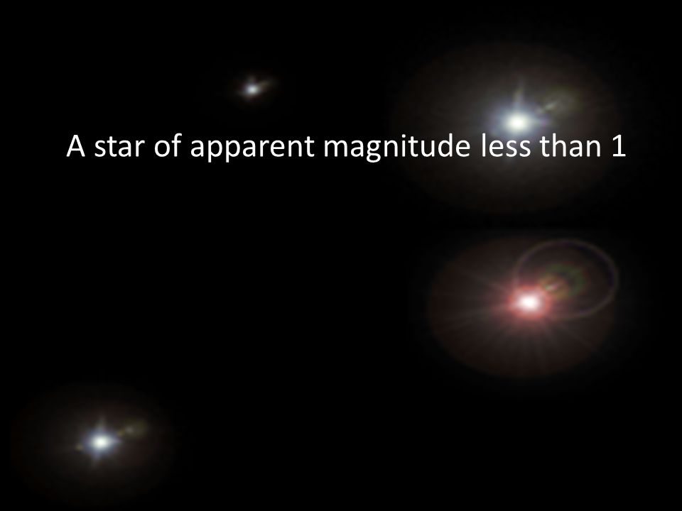 A star of apparent magnitude less than 1