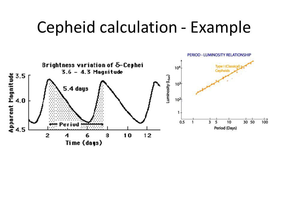 Cepheid calculation - Example