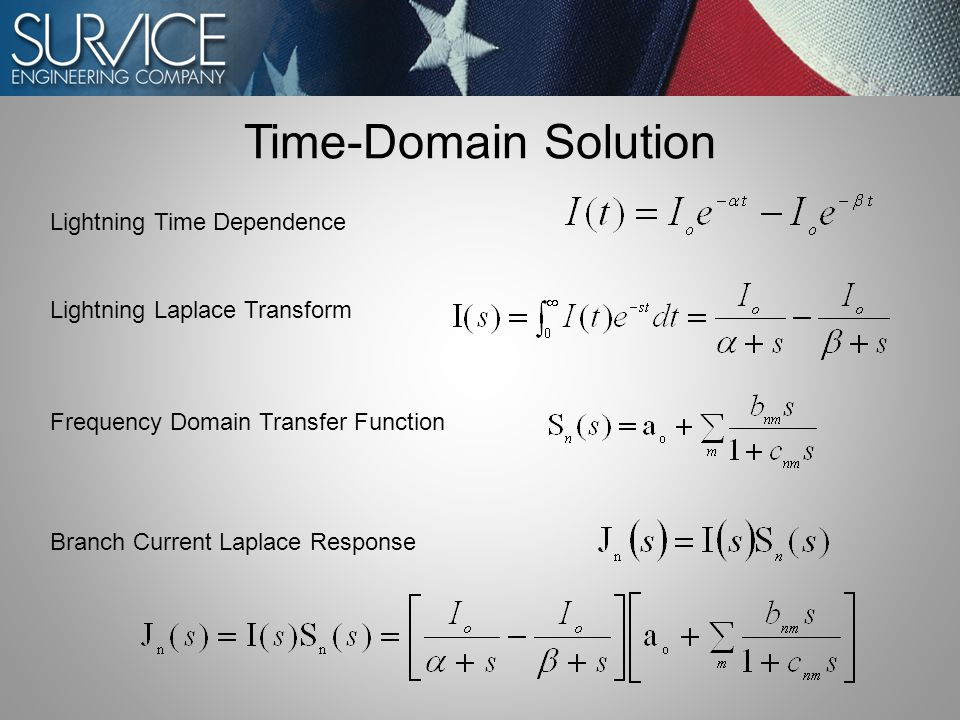 Lightning Time Dependence Lightning Laplace Transform Frequency Domain Transfer Function Branch Current Laplace Response Time-Domain Solution