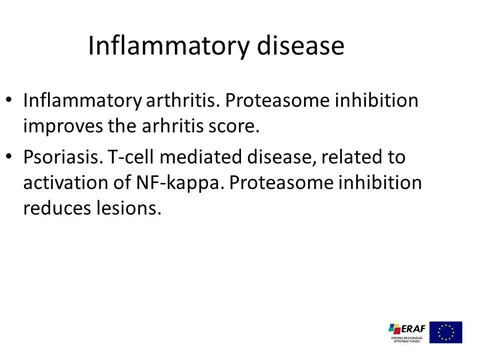 Inflammatory disease Inflammatory arthritis. Proteasome inhibition improves the arhritis score.