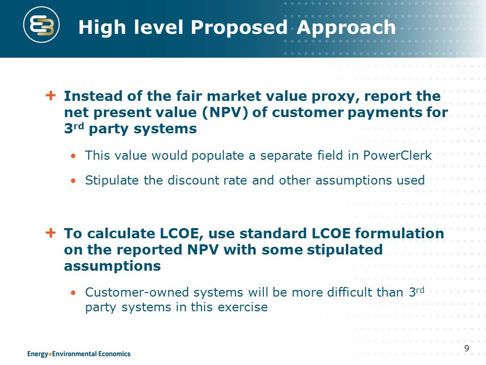 Example: Calculating the NPV & LCOE 10