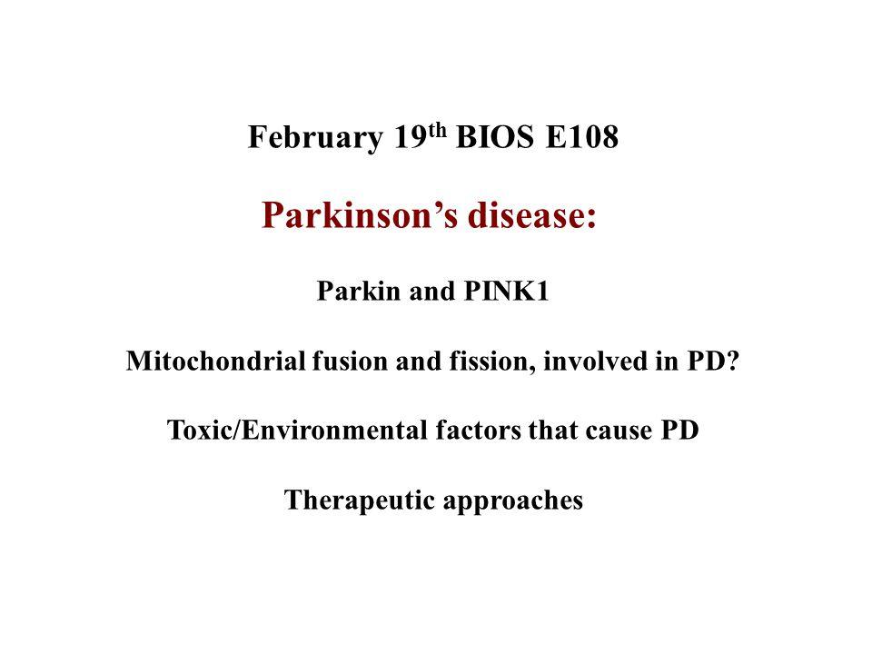 Neurotoxins that induce PD
