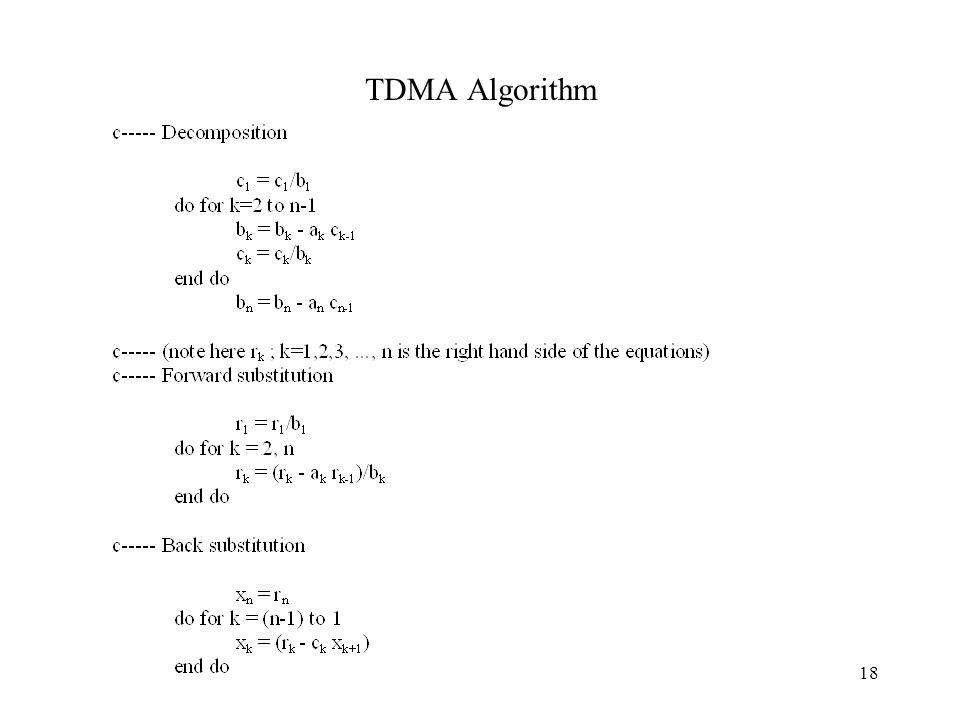 18 TDMA Algorithm