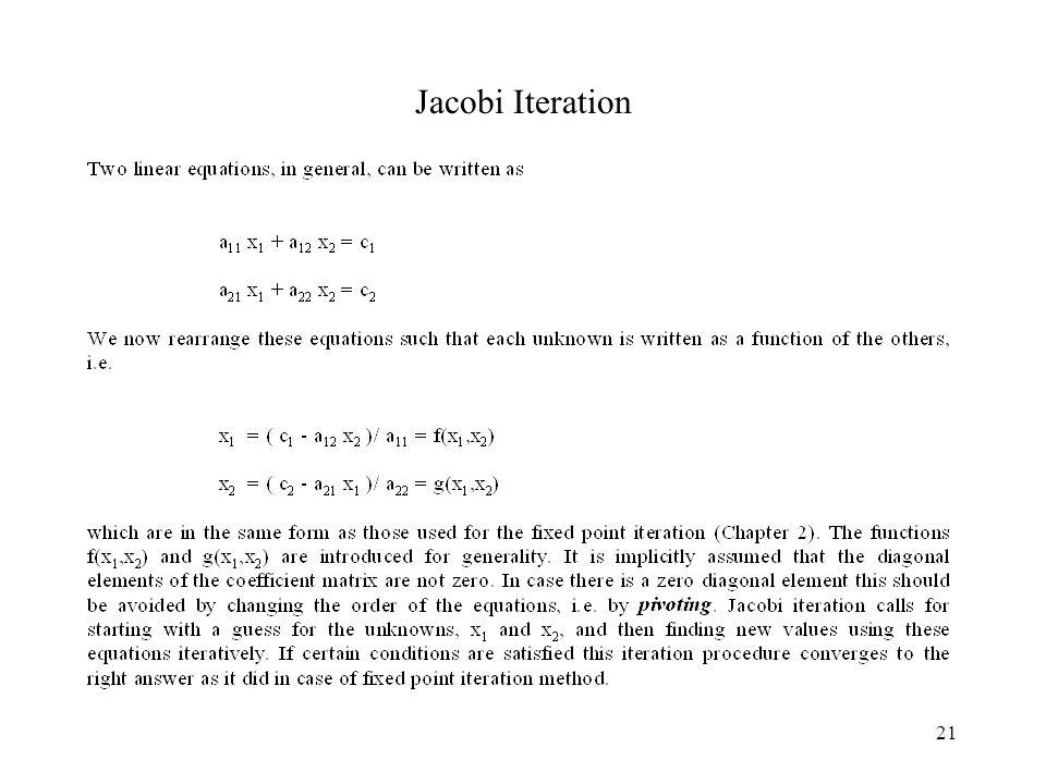 21 Jacobi Iteration