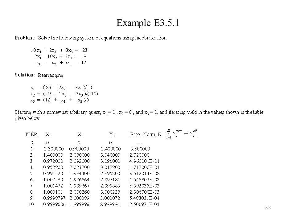 22 Example E3.5.1