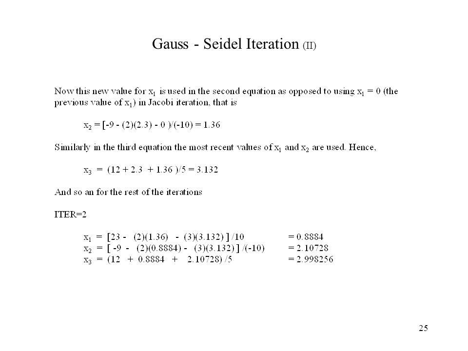 25 Gauss - Seidel Iteration (II)