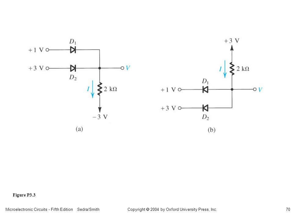 Copyright  2004 by Oxford University Press, Inc. Microelectronic Circuits - Fifth Edition Sedra/Smith70 Figure P3.3