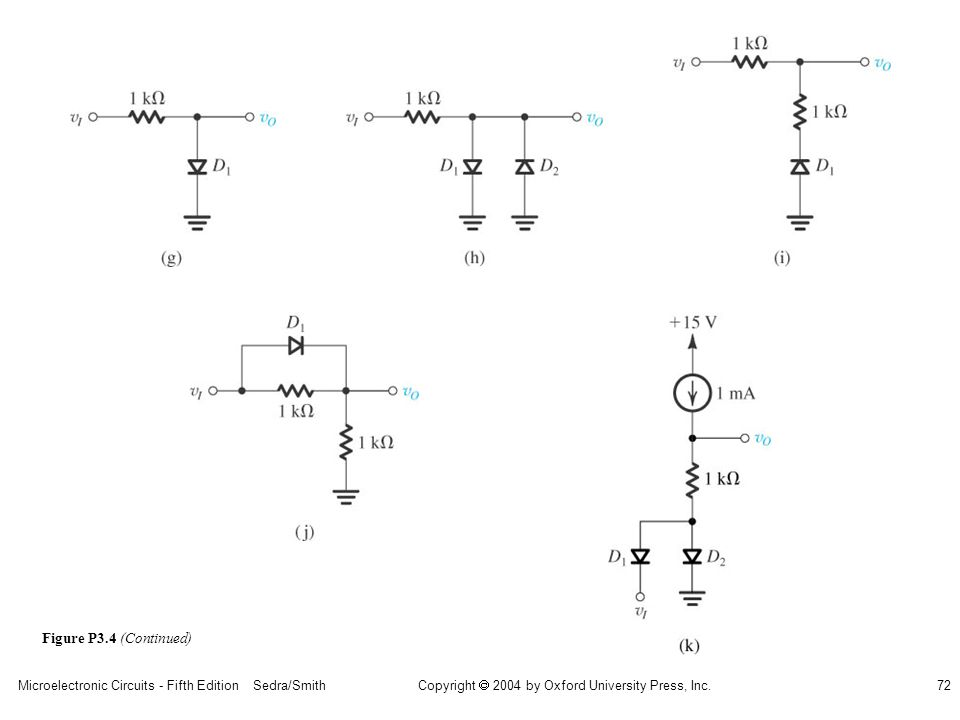 Copyright  2004 by Oxford University Press, Inc. Microelectronic Circuits - Fifth Edition Sedra/Smith72 Figure P3.4 (Continued)