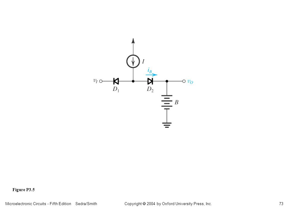 Copyright  2004 by Oxford University Press, Inc. Microelectronic Circuits - Fifth Edition Sedra/Smith73 Figure P3.5