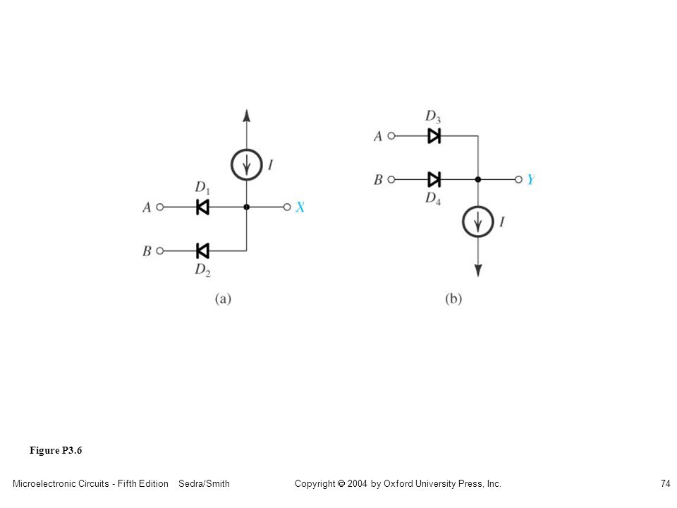 Copyright  2004 by Oxford University Press, Inc. Microelectronic Circuits - Fifth Edition Sedra/Smith74 Figure P3.6