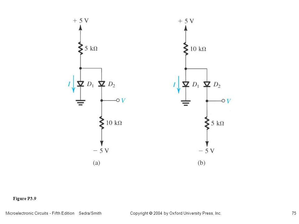Copyright  2004 by Oxford University Press, Inc. Microelectronic Circuits - Fifth Edition Sedra/Smith75 Figure P3.9