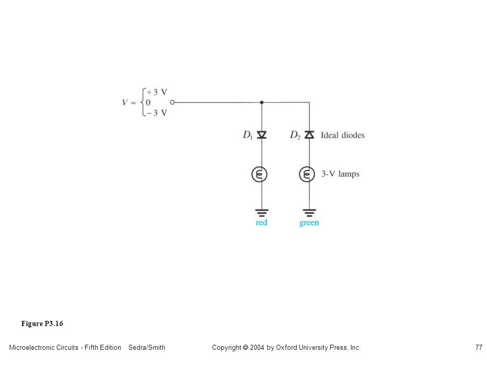 Copyright  2004 by Oxford University Press, Inc. Microelectronic Circuits - Fifth Edition Sedra/Smith77 Figure P3.16