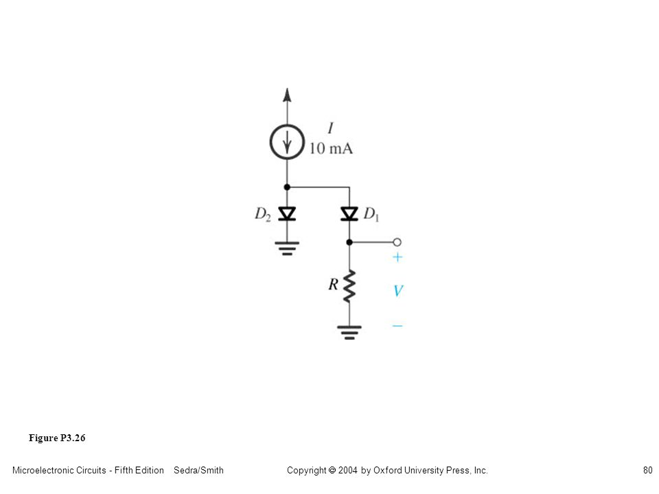 Copyright  2004 by Oxford University Press, Inc. Microelectronic Circuits - Fifth Edition Sedra/Smith80 Figure P3.26