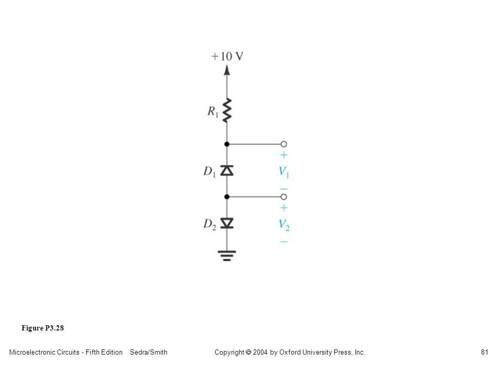 Copyright  2004 by Oxford University Press, Inc. Microelectronic Circuits - Fifth Edition Sedra/Smith81 Figure P3.28
