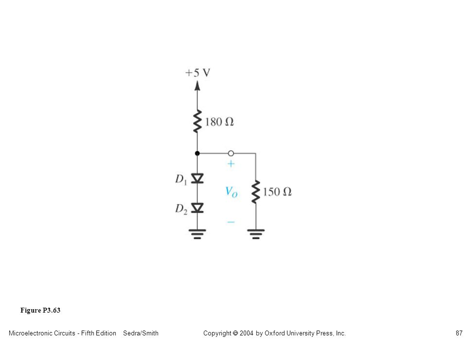Copyright  2004 by Oxford University Press, Inc. Microelectronic Circuits - Fifth Edition Sedra/Smith87 Figure P3.63