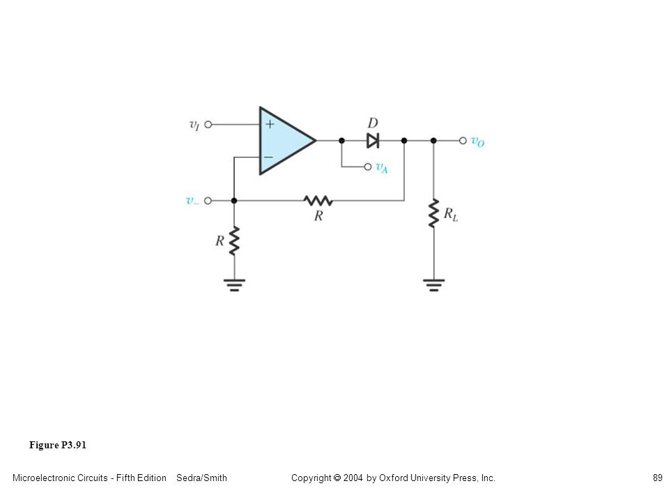 Copyright  2004 by Oxford University Press, Inc. Microelectronic Circuits - Fifth Edition Sedra/Smith89 Figure P3.91