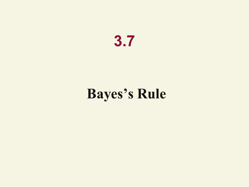 3.7 Bayes's Rule