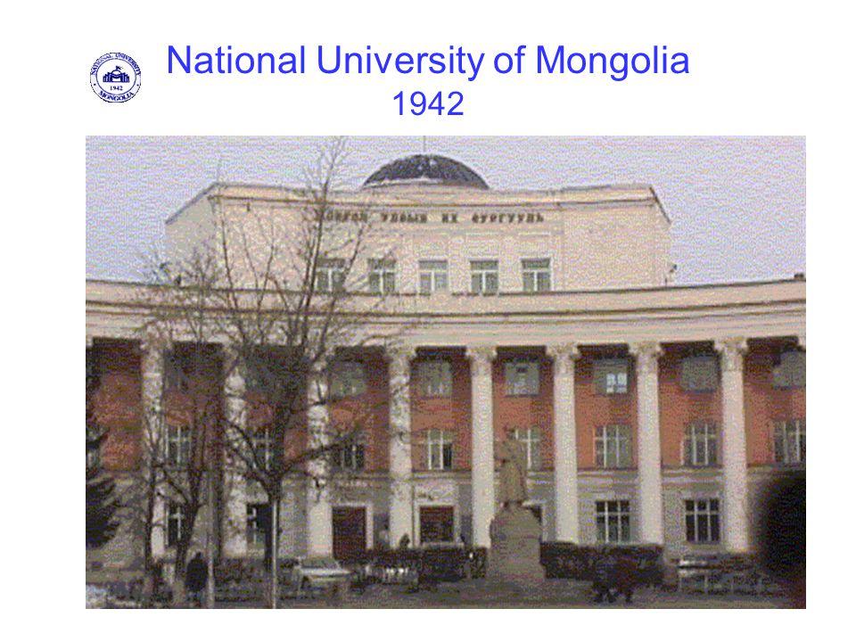 National University of Mongolia 1942