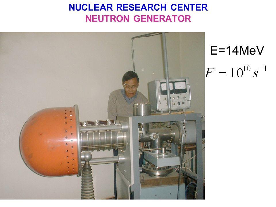 NUCLEAR RESEARCH CENTER NEUTRON GENERATOR E=14MeV