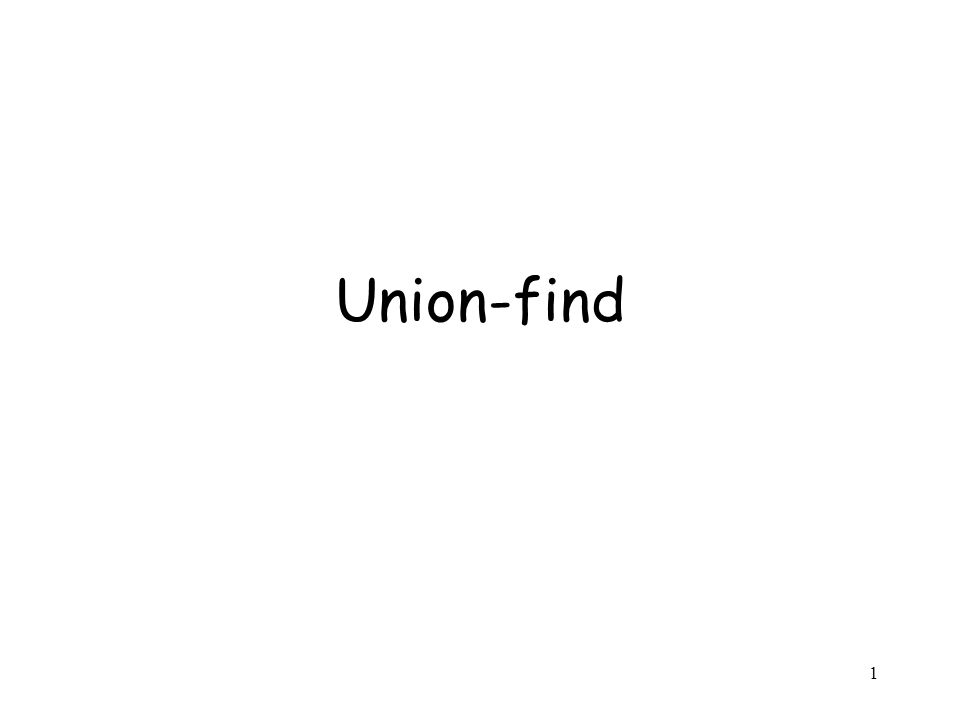 1 Union-find