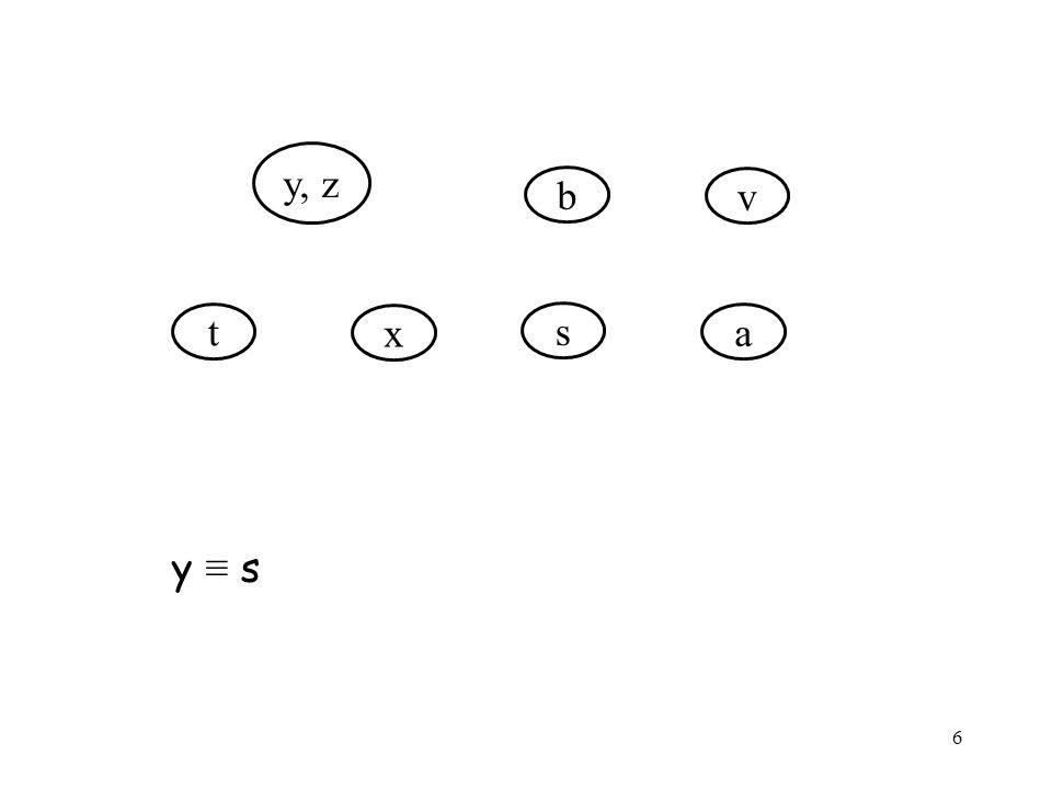 6 y, z t x b v s a y ≡ s
