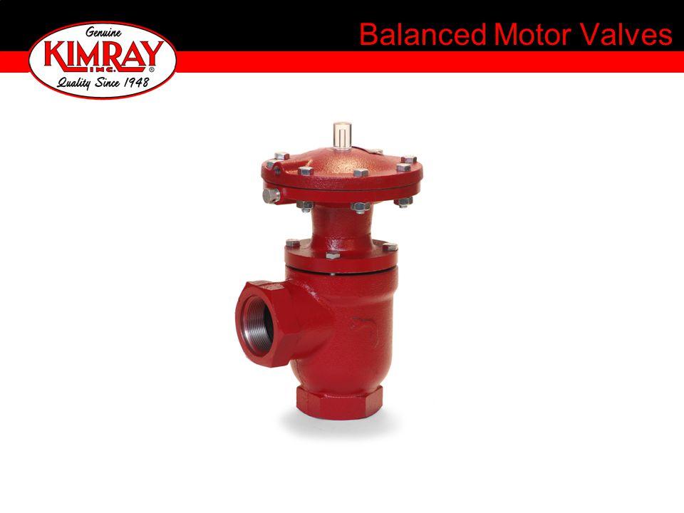 Balanced Motor Valves