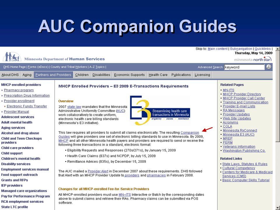 Minnesota Health Care Programs Companion AUC Companion Guides