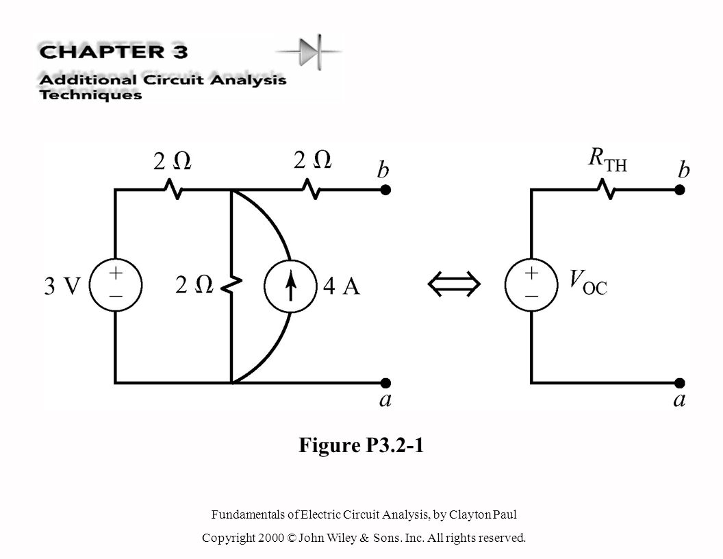 Fundamentals of Electric Circuit Analysis, by Clayton Paul Copyright 2000 © John Wiley & Sons.