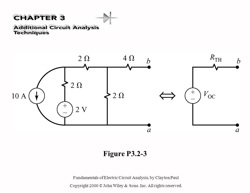 Fundamentals of Electric Circuit Analysis, by Clayton Paul Copyright 2000 © John Wiley & Sons. Inc. All rights reserved. Figure P3.2-3