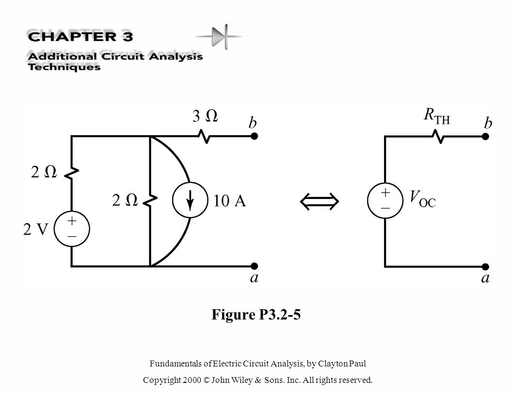 Fundamentals of Electric Circuit Analysis, by Clayton Paul Copyright 2000 © John Wiley & Sons. Inc. All rights reserved. Figure P3.2-5