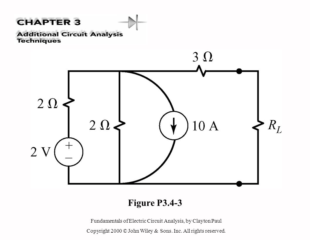 Fundamentals of Electric Circuit Analysis, by Clayton Paul Copyright 2000 © John Wiley & Sons. Inc. All rights reserved. Figure P3.4-3