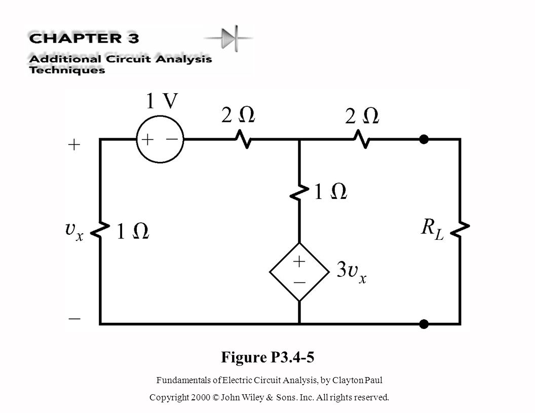 Fundamentals of Electric Circuit Analysis, by Clayton Paul Copyright 2000 © John Wiley & Sons. Inc. All rights reserved. Figure P3.4-5