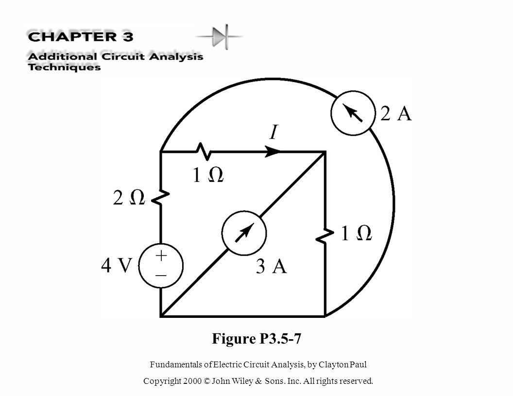Fundamentals of Electric Circuit Analysis, by Clayton Paul Copyright 2000 © John Wiley & Sons. Inc. All rights reserved. Figure P3.5-7