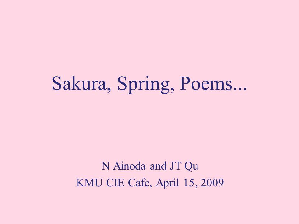 Sakura, Spring, Poems... N Ainoda and JT Qu KMU CIE Cafe, April 15, 2009