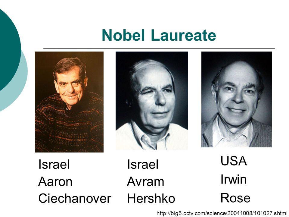 Nobel Laureate Israel Aaron Ciechanover Israel Avram Hershko USA Irwin Rose http://big5.cctv.com/science/20041008/101027.shtml