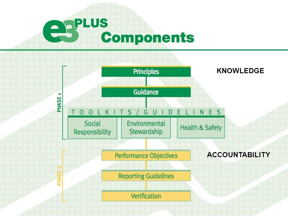 e3 Plus: Principles 1.ADOPT RESPONSIBLE GOVERNANCE AND MANAGEMENT 2.