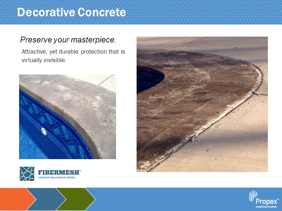 Click to edit Master title style Decorative Concrete Attractive, yet durable protection that is virtually invisible.