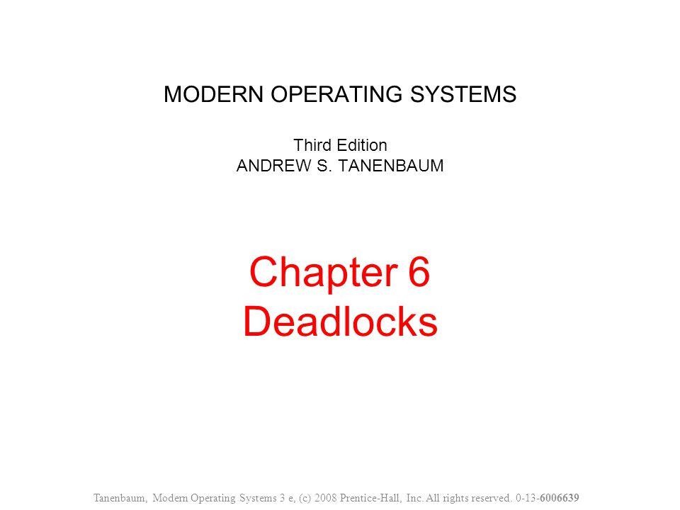 Figure 6-7.An example for the deadlock detection algorithm.