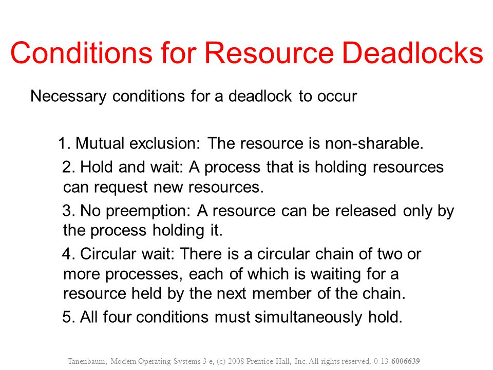 Attacking Mutual Exclusion Condition Ensure that no resource is assigned exclusively to a single process.