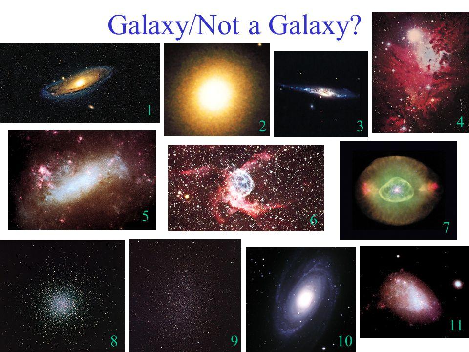 Galaxy/Not a Galaxy 1 7 6 5 4 32 8910 11