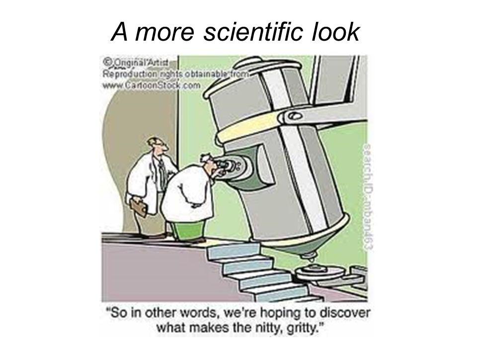 A more scientific look