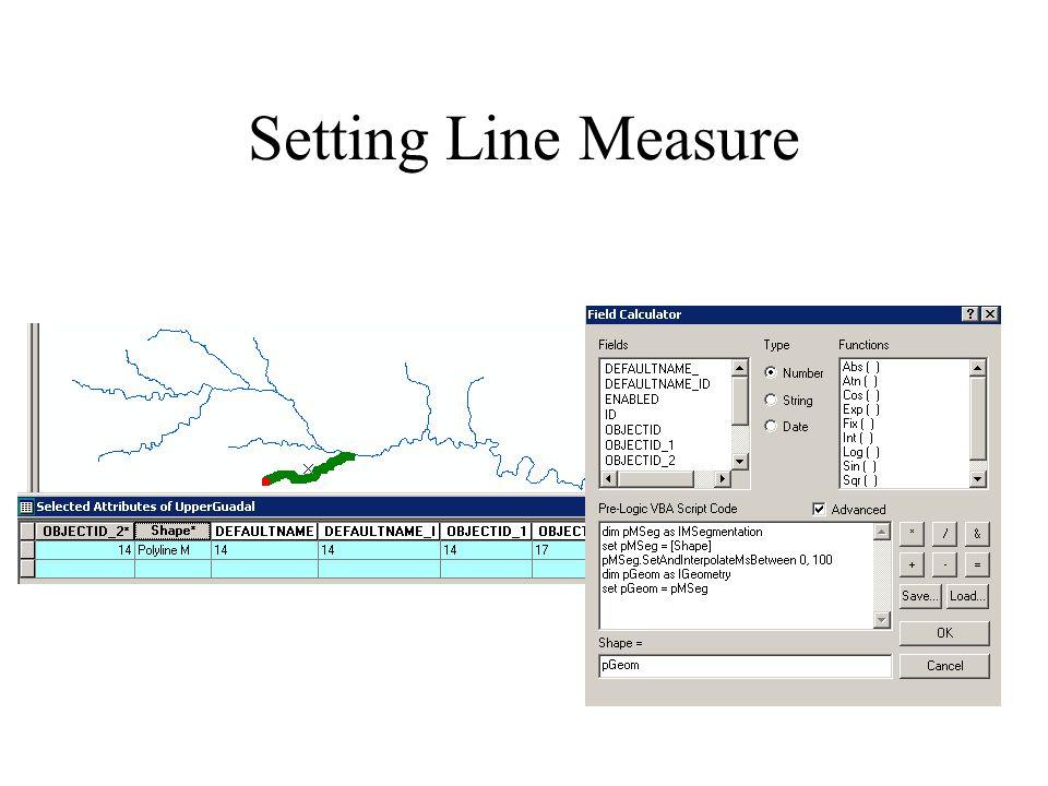 Setting Line Measure
